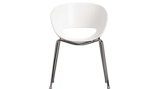 Orbit white arm chair - CB2