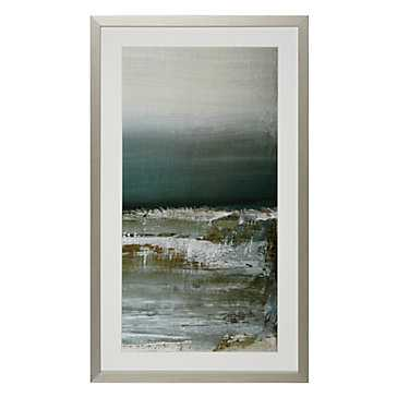 "Shallows 2 - 24.75"" x 41.75'' - Bright Silver Frame with Mat - Z Gallerie"