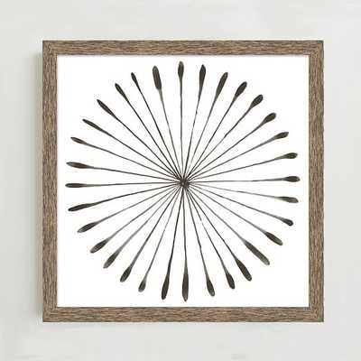 "Framed Print - Watercolor Burst I - Individual - 20"" sq - Natural Frame - No Mat - West Elm"
