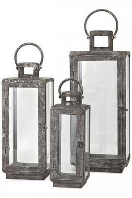 Ella Metal Lanterns - Set of 3 - Home Depot