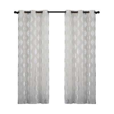 "Sorrento Curtain Panel - White - 84"" - Set of 2 - Wayfair"