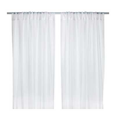 TERESIA Sheer curtains, 1 pair - White - Ikea