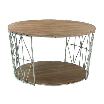 ROUND, WOOD AND METAL COFFEE TABLE - Rosen Studio