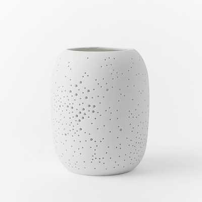 Pierced Porcelain Hurricanes - Constellation -  Medium - West Elm