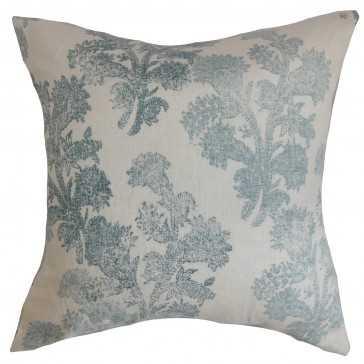 Eara Floral Pillow - 20x20 - Down insert - Linen & Seam
