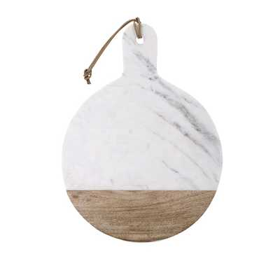 Peyton Marble and Wood Cheese Board - Mercer Collection
