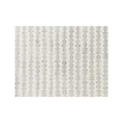 Graphite Neutral Striped Wool 9'x12' Rug - Crate and Barrel