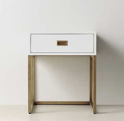 AVALON OPEN NIGHTSTAND - Waxed White - RH