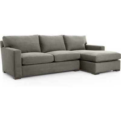 Axis II 2-Piece Sectional Sofa - Douglas, Charcoal - Crate and Barrel