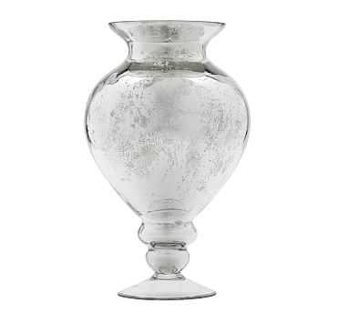 Antique Mercury Vase, Footed Round - Pottery Barn