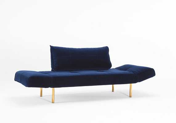Daybed Vintage - Velvet Dark Blue - Innovation Living