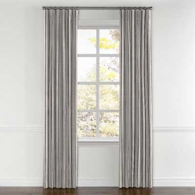 """Rustic Gray Stripe Curtains with Pocket - Farm to Table - Ash - Pair, Split Draw - 60"""" x 93""""-1/2"""" - Privacy - Loom Decor"""