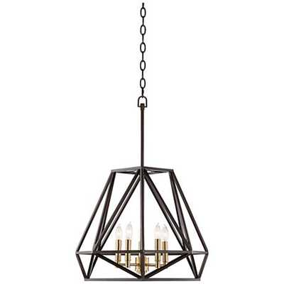 "Hawking 5-Light 20"" Wide Bronze Pendant Chandelier - Lamps Plus"