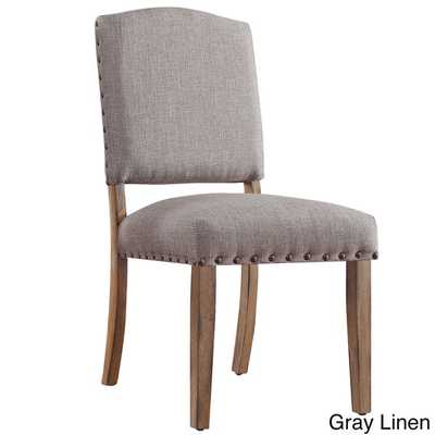 Benchwright Nailhead Upholstered Dining Side Chairs ( Set of 2) - Overstock