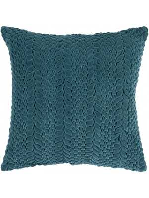 "Verna Pillow  -  Turquoise - 18''x 18""  -  Polyester Filled - Lulu and Georgia"