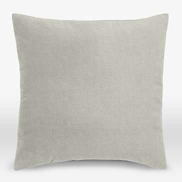 """Upholstery Fabric Pillow Cover, Square, 18""""x18"""", Basketweave, Putty Gray - West Elm"""