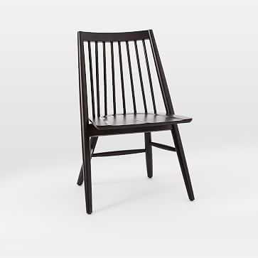 Scissor Spindle Chair, Charcoal - West Elm