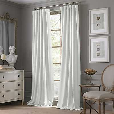Valeron Estate Cotton Linen 95-Inch Window Curtain Panel in White - Bed Bath & Beyond