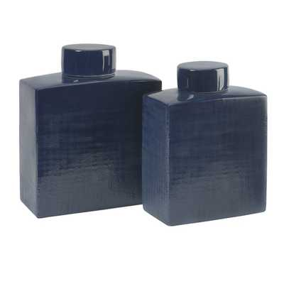 Wilfred Ceramic Canisters - Set of 2 - Mercer Collection