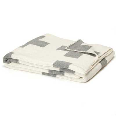 Reversible Swiss Cross Split Aluminum Throw - Domino