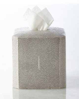 """Shagreen"" Tissue Box Cover - Horchow"