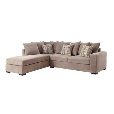 Coaster Company Taupe Chenille Cushioned Sectional - Overstock