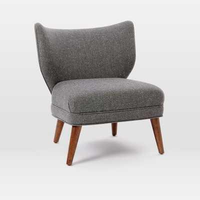 Retro Wing Chair - Tweed - Salt + Pepper - West Elm