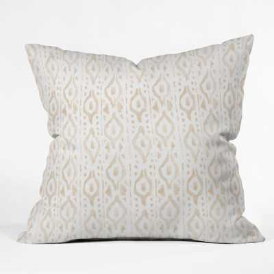 "DESERT LINEN Throw Pillow - 16"" x 16"" - Polyester Insert - Wander Print Co."