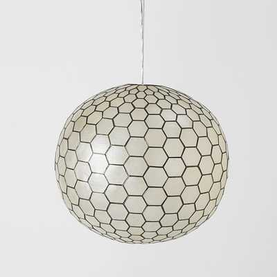 Capiz Orb Pendant - Large - West Elm