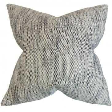 "Lakota Stripes Pillow Ebony - 20"" x 20"" with Down Insert - Linen & Seam"