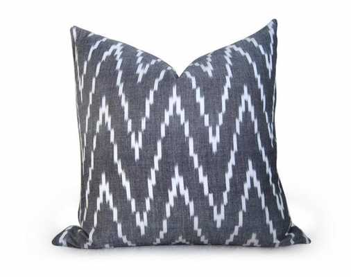 "Kasari Pillow Cover - Graphite - 18"" x 18"" - No Insert - Willa Skye"