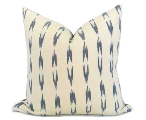 "Guatemalan Ikat Pillow Cover - Gray - 17"" x 17"" - No Insert - Willa Skye"