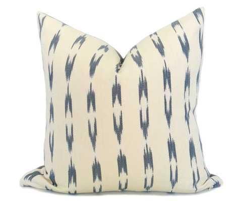 "Guatemalan Ikat Pillow Cover - Gray - 17"" x 17"" - No Insert - Willa Skye"