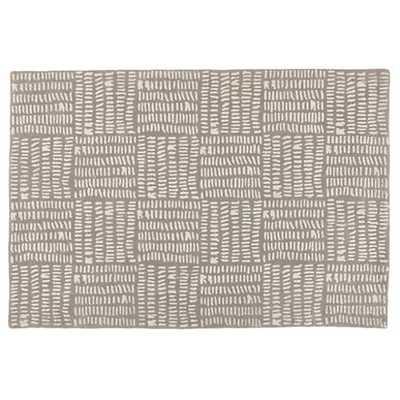 4 x 6' Grey Tally Rug - Land of Nod