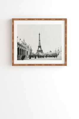VINTAGE PARIS AROUND 1900 -19''x 22.4''-Bamboo wood frame - Wander Print Co.