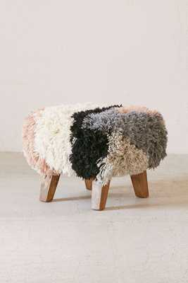 Magical Thinking Shaggy Ottoman - Urban Outfitters
