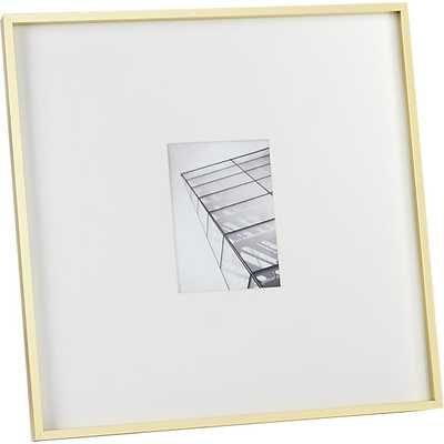 """Gallery brass picture frame - 5""""x7"""" - CB2"""