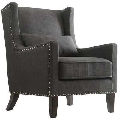 Jeannette Wingback Arm Chair - Dark Gray - Wayfair