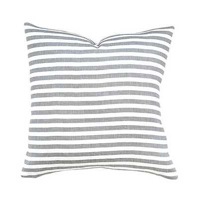 "Perfect Stripe Pillow - Grey - 18"" x 18"" - No insert - McGee & Co."