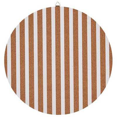"""16"""" Perfect Circle Corkboard (Stripe) - Land of Nod"""