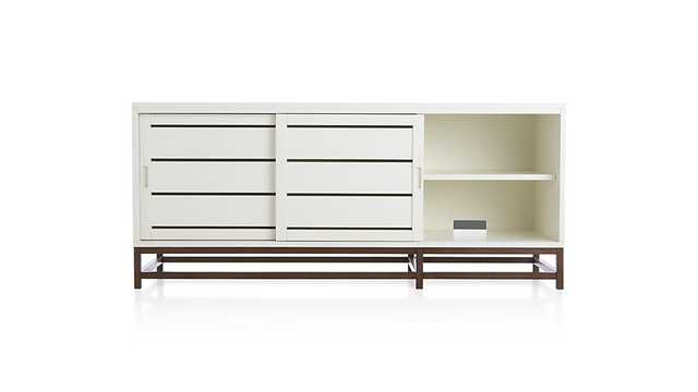 Clapboard White Media Console - Crate and Barrel
