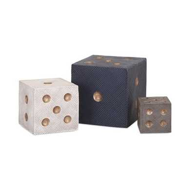 Beth Kushnick Decorative Dice - Set of 3 - Mercer Collection