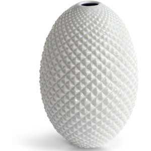 Diamond Cut Egg Vase - Domino