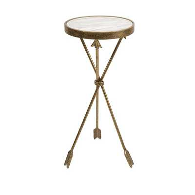 Arrow Marble Top Table - Mercer Collection