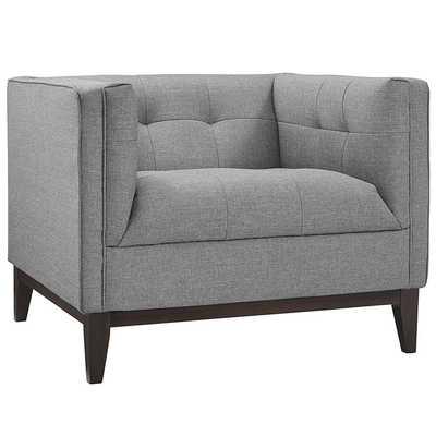 Serve Armchair - Light Gray - Modway Furniture