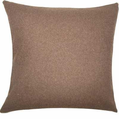 "EIRE SOLID PILLOW BROWN - 18"" x 18"" - Polyester Insert - Linen & Seam"