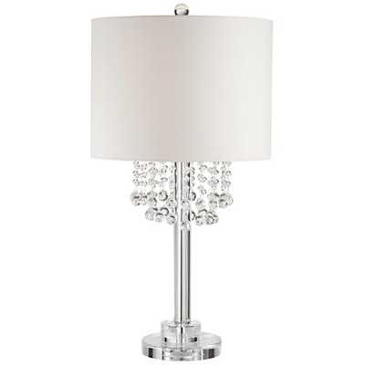 Madlyn Clear Crystal Droplet Table Lamp - Lamps Plus