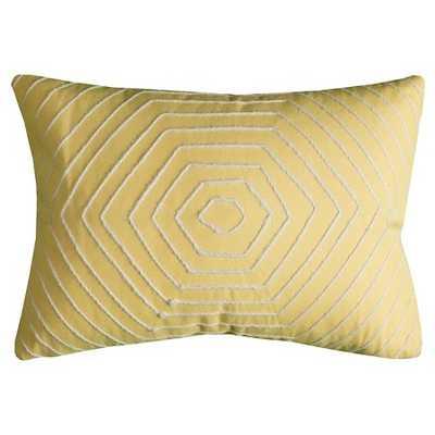 "Hexigons Throw Pillow Yellow - 13"" x 18"" - Polyester Insert - Target"