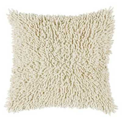 Rizzy Home Shag Decorative Throw Pillow - Off White - Target