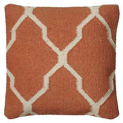 MOROCCAN KILIM PILLOW - Orange - With Insert - Home Decorators